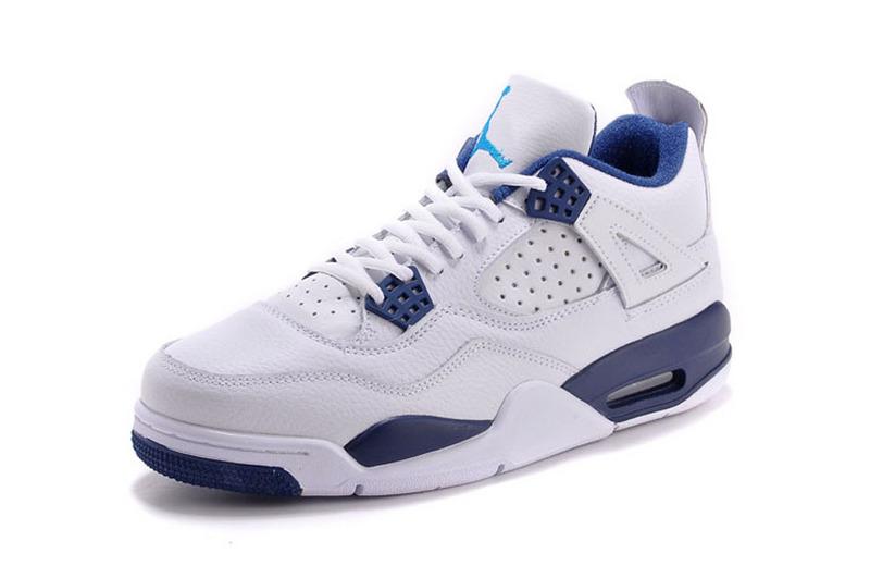 air jordan 4 blanche et bleu