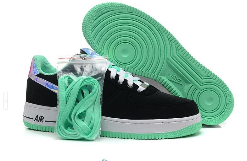 air force daim,homme air force 1 low noir et verte