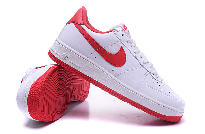 nike air force one femme blanche et rouge