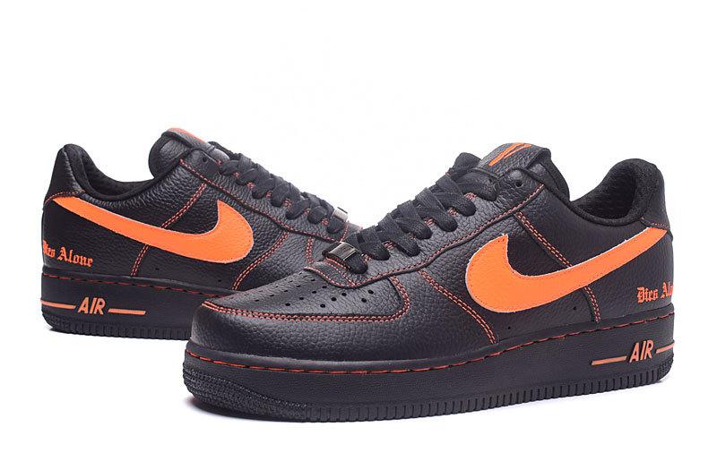 air force 1 homme noir et orange