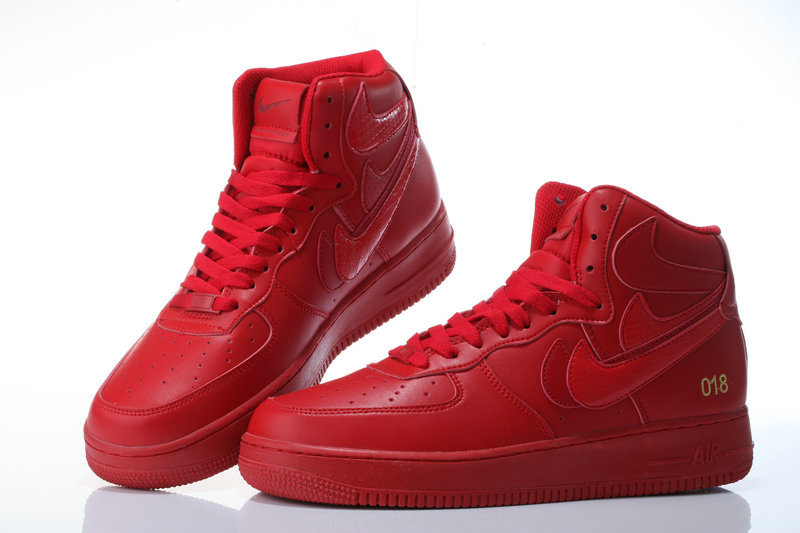 nike air force 1 suede femme rouge