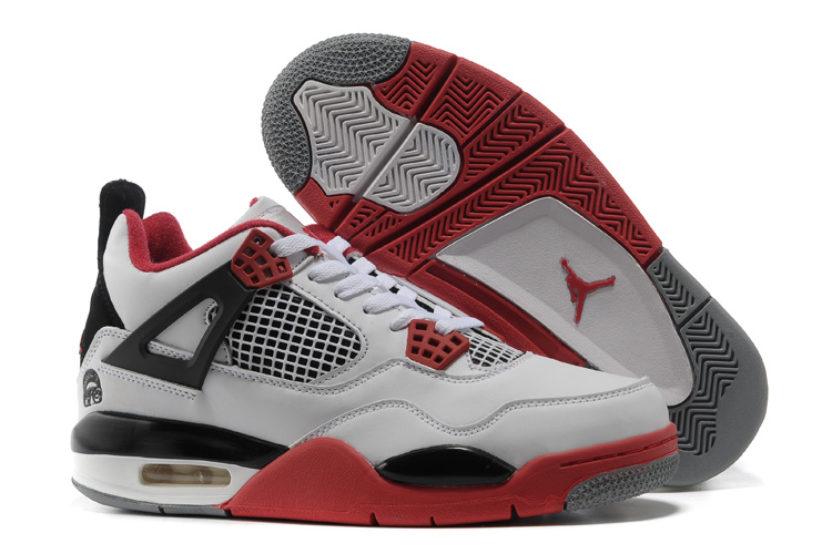 air jordan 4 blanc et rouge
