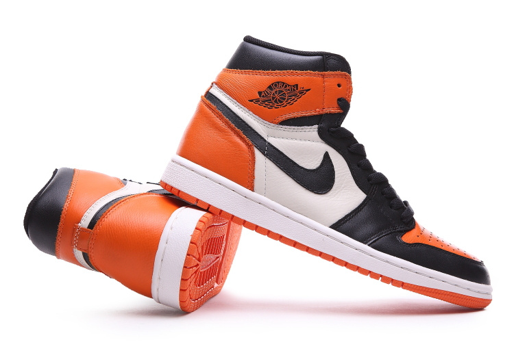 air jordan 1 orange noir blanc