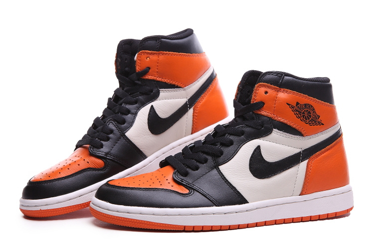 air jordan 1 orange noir blanche