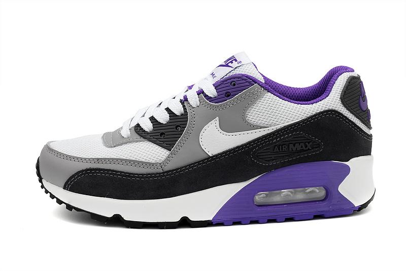 nike air max 90 blanc bleu violet