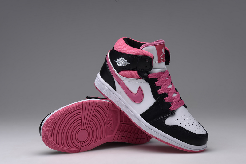 basket air jordan,nike air jordan 1 noir et rose femme