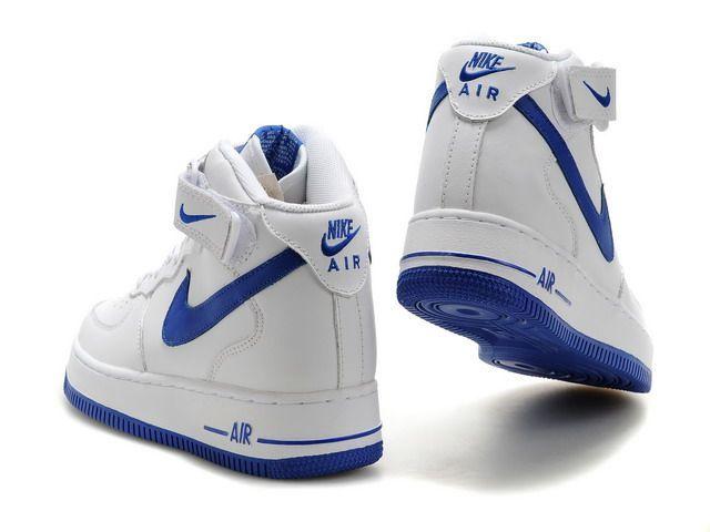 air force 1 high blanche et bleue femme