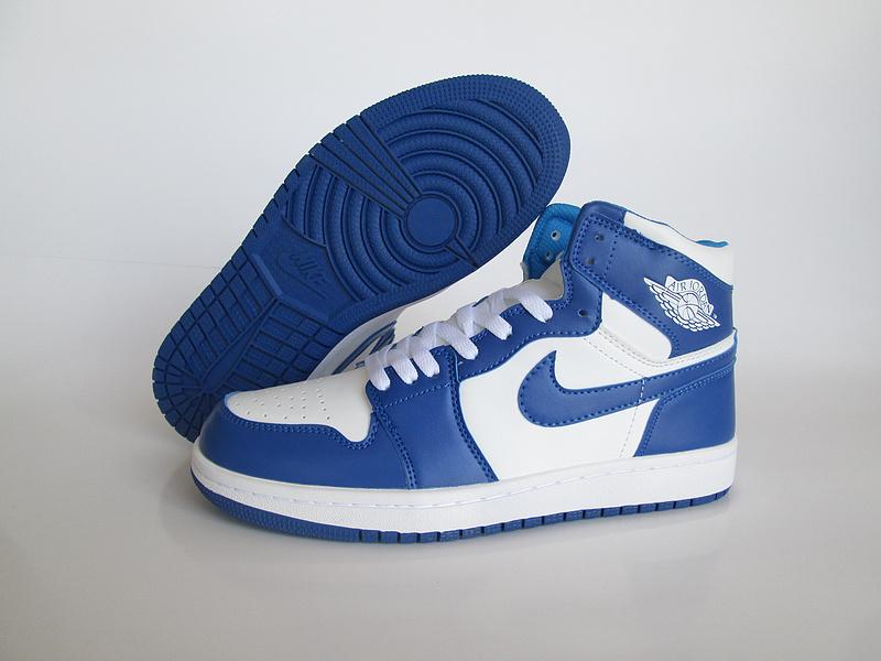 nike air jordan blanche et bleu