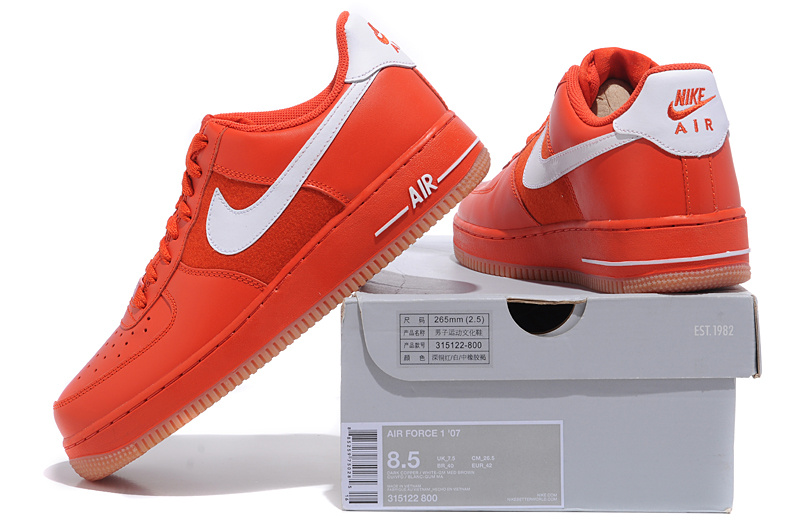 basket air force one homme rouge
