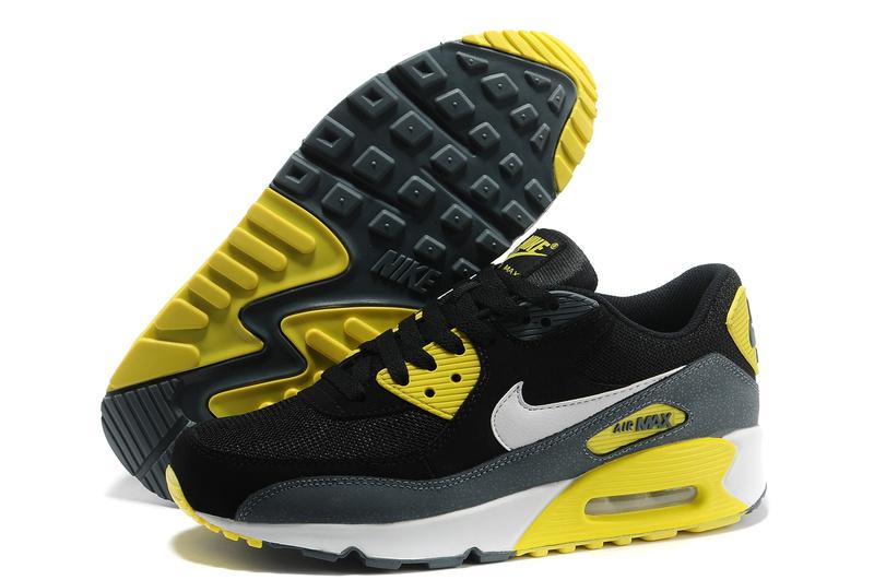 Soldes > nike air max 90 noir et jaune > en stock